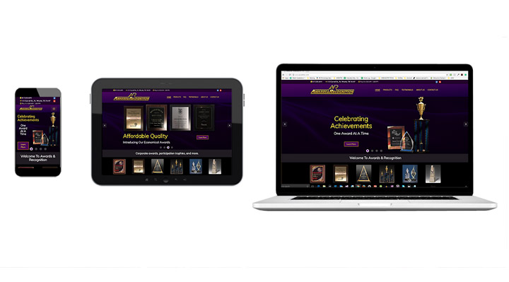Awards & Recognition's New Responsive Website.